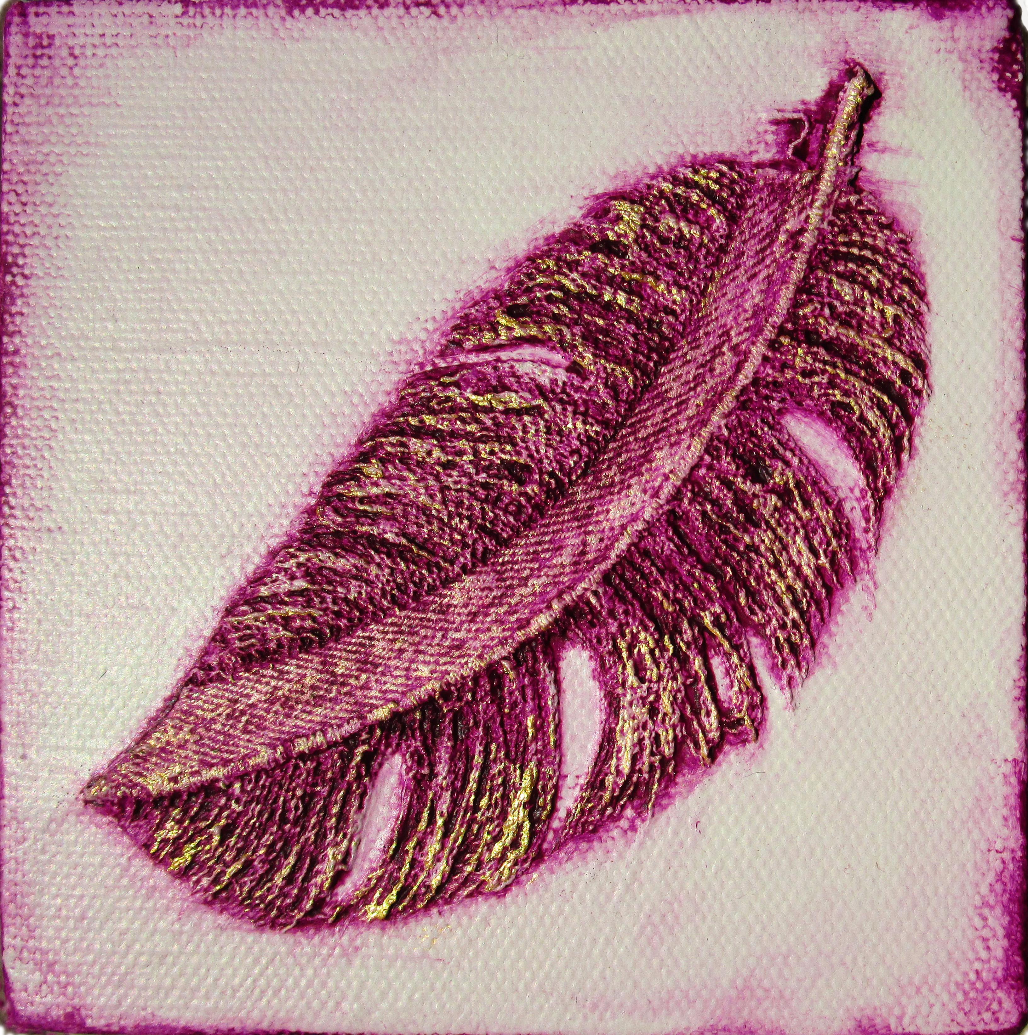 Denim Feather: Lilac&Gold
